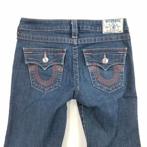 True Religion Boot Cut Flap Pocket Denim Jeans